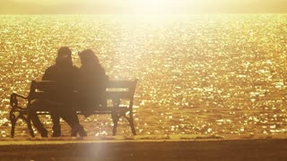 Couple at Golden Sunset