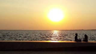 Couple at Sunset- romantic sunset