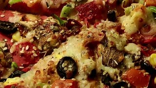 Delicious pizza- zoom out