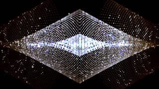 Diamond Lights with Flowing Particles