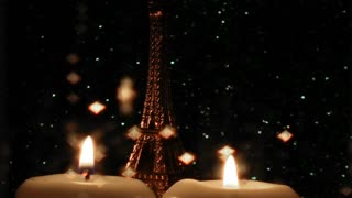 Eiffel Tower and Glittering Rain Drops