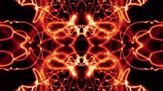 Fire color particle neon lights