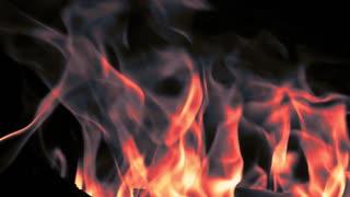 Fire - fireplace-fire in dark