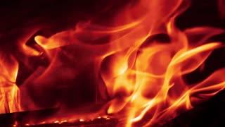 Fire - fireplace- fire in dark