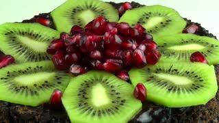 Fruit cake rotating 2