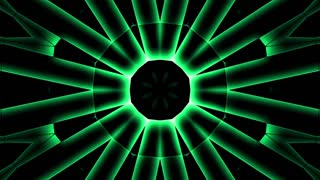 Futuristic green lights background