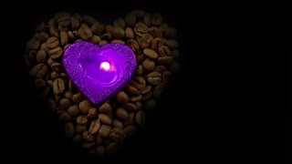 Heart Shaped Candle in Coffee Beans