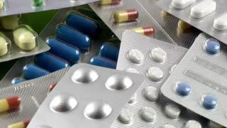 Medicine pills tablets rotating