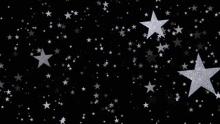 Metallic stars background