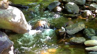 Mountain stream and rocks