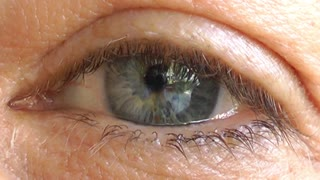 Older Woman Eye-macro shot