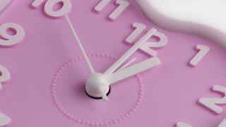 Pink alarm clock face