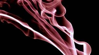 Pink silky smoke on black