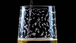 Pouring Beer on Black Background