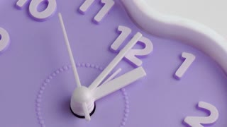 Purple alarm clock face
