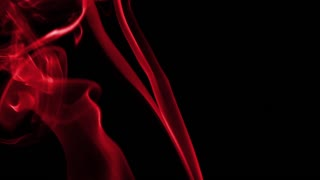 Red Silky Smoke on Black Background