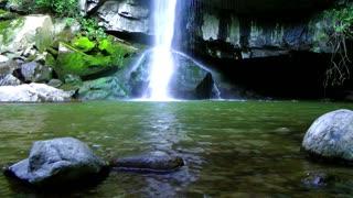 Rock under Waterfall