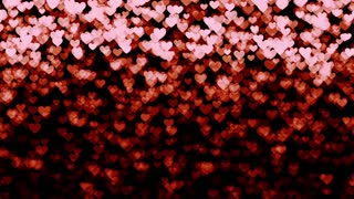 Romantic hearts background- Heartfall