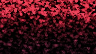 Romantic hearts background- Heartsfall
