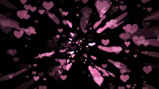 Romantic hearts background