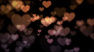 Romantic hearts bokeh background