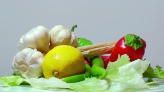 Rotating fresh vegetables 2