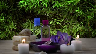 Spa Treatment on Nature Background