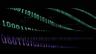Technology background with binary codes