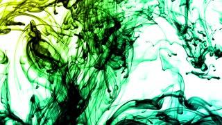 Underwater ink smoke on white background
