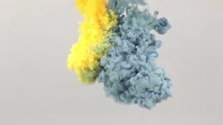 Underwater Yellow Blue Paint Smoke