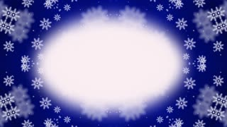 Abstract snowflakes frame kaleidoscopic animation suited for tv shows, concerts ,music protections , vj projections at parties in night clubs, discos and  trance events.