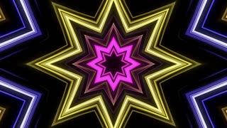 Colorful neon lights kaleidoscopic background