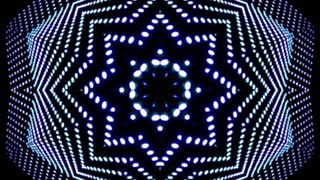 Futuristic led lights kaleidoscopic background