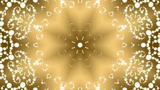 Golden Oriental kaleidoscopic background