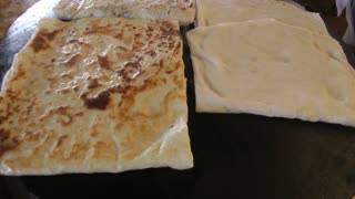 Gozleme- traditional Turkish food
