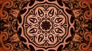 Oriental kaleidoscopic background