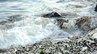 Waves crashing on the rocks-2