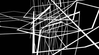 animation - Abstract  motion graphics on black background with criss cross white lines