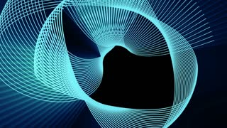 animation of blue line smooth wave on black background