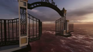 animation of gate to heaven made in 3d software