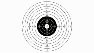 animation - Shooting target with word planning