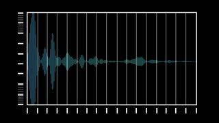 computer generated equalizer bars in waveform audio spectrum