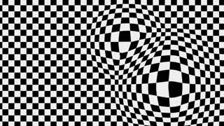 3d animation - Motion background with optical illusion
