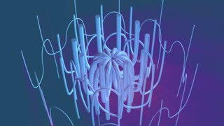 3d animation - rotating silver abstract shapes