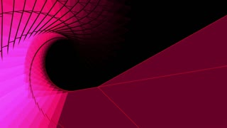 3d rendering - wire frame model of slow spiraling red  motion graphic design
