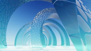 Abstract Architecture. Concept of organic architecture.3D animation and rendering