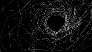 Abstract geometric polygonal structure