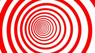 Abstract Hypnotizing Circles Zoom Background