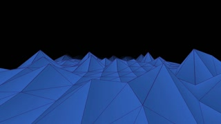 Abstract Low Poly Mountain Landscapes background