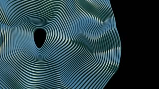 animation with wave object in motion made with trapcode